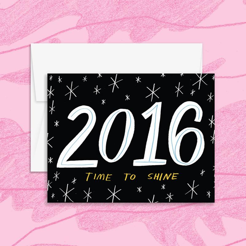 Wild one designs holiday greeting cards 2015 katie turner illustration m4hsunfo
